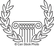 Laurel clipart roman. Column illustrations and royalty vector free download