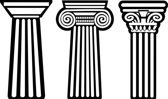 Column clipart old temple. Ionic order classical doric