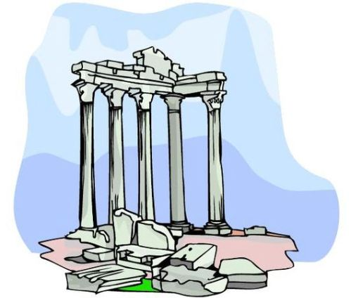 Rome clipart greek pillar. Architecture at getdrawings com