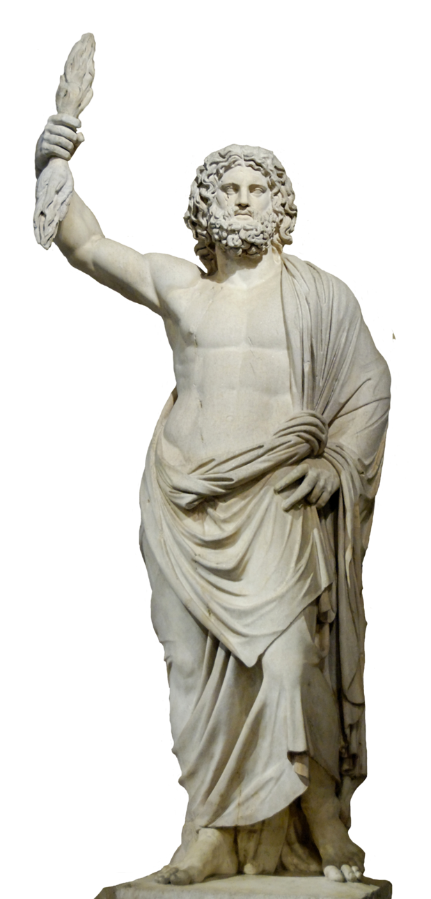 Greek statue png. Zeus stock by shadow
