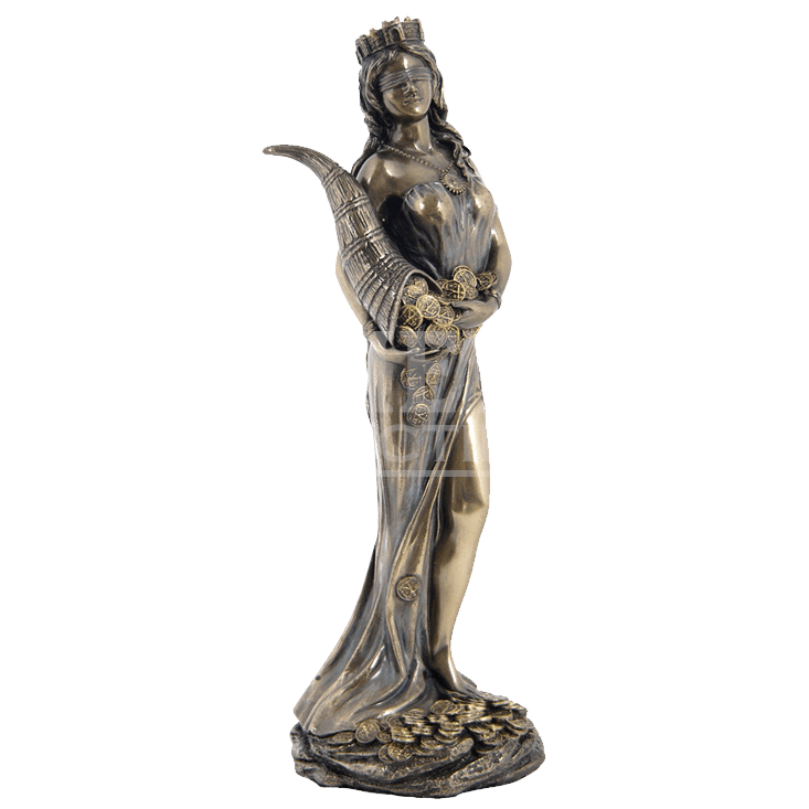 Greek god of wealth statue png. Fortuna wu from medieval