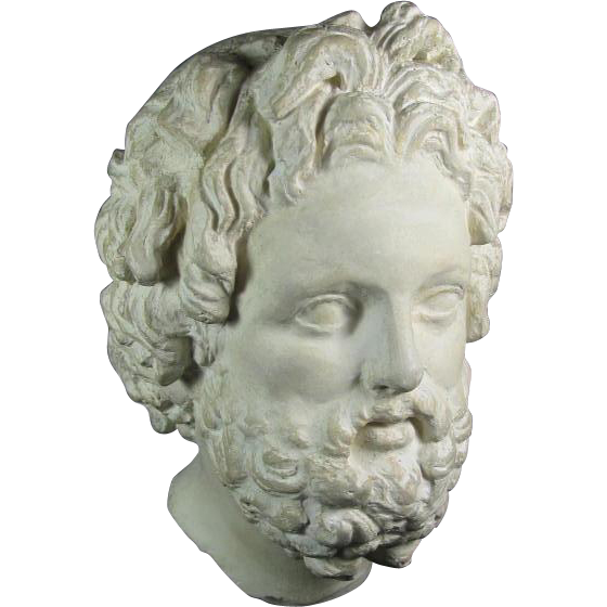 Greek head statue png. Hellenistic style of god