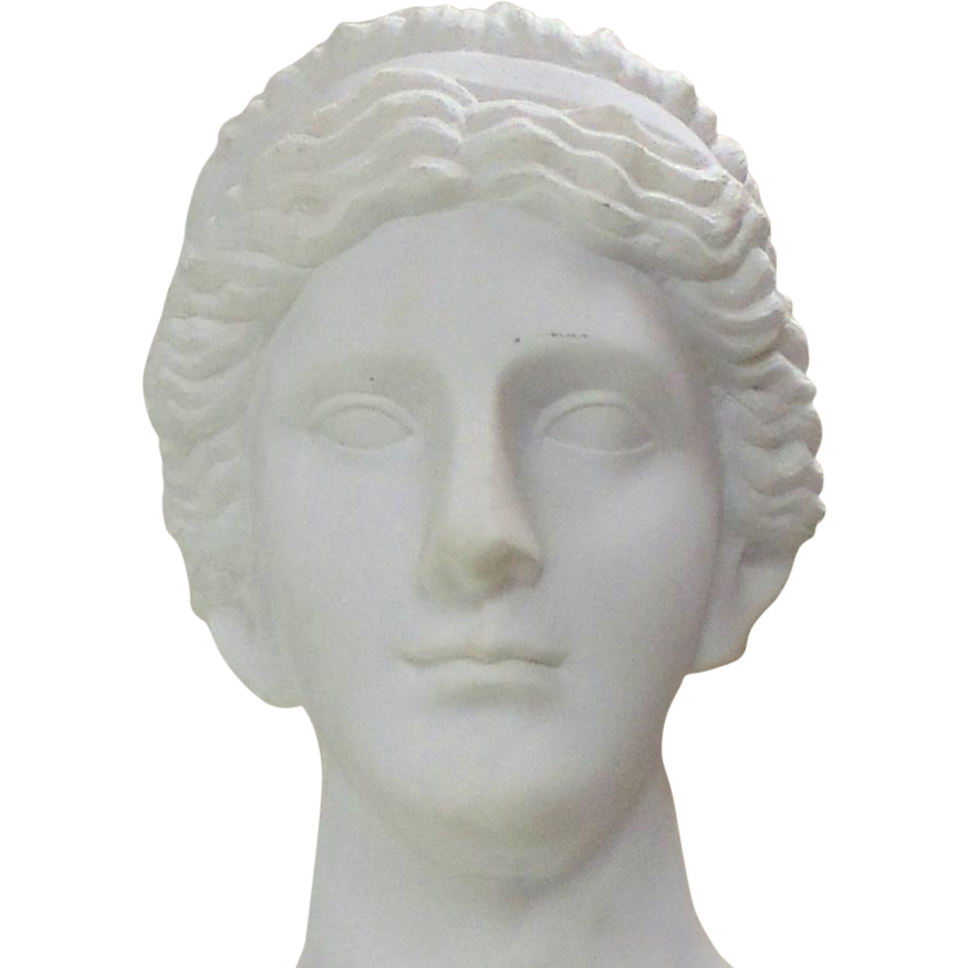 Greek head statue png. Hand carved carrara marble