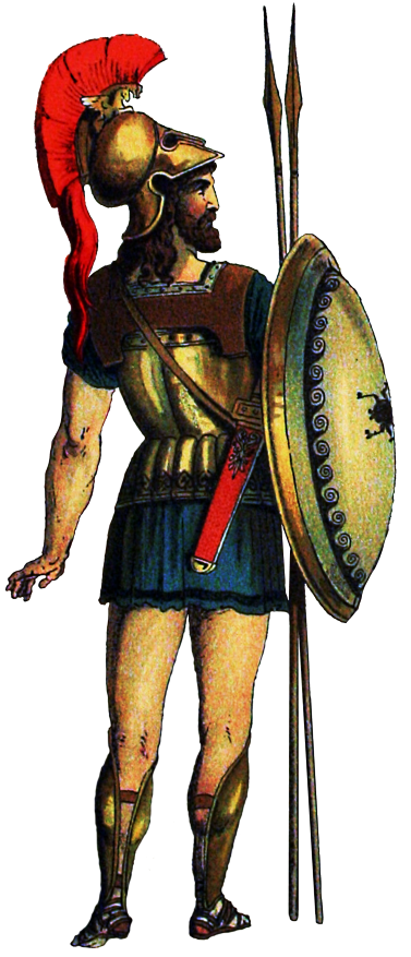 Greek soldier png. D e in ancient