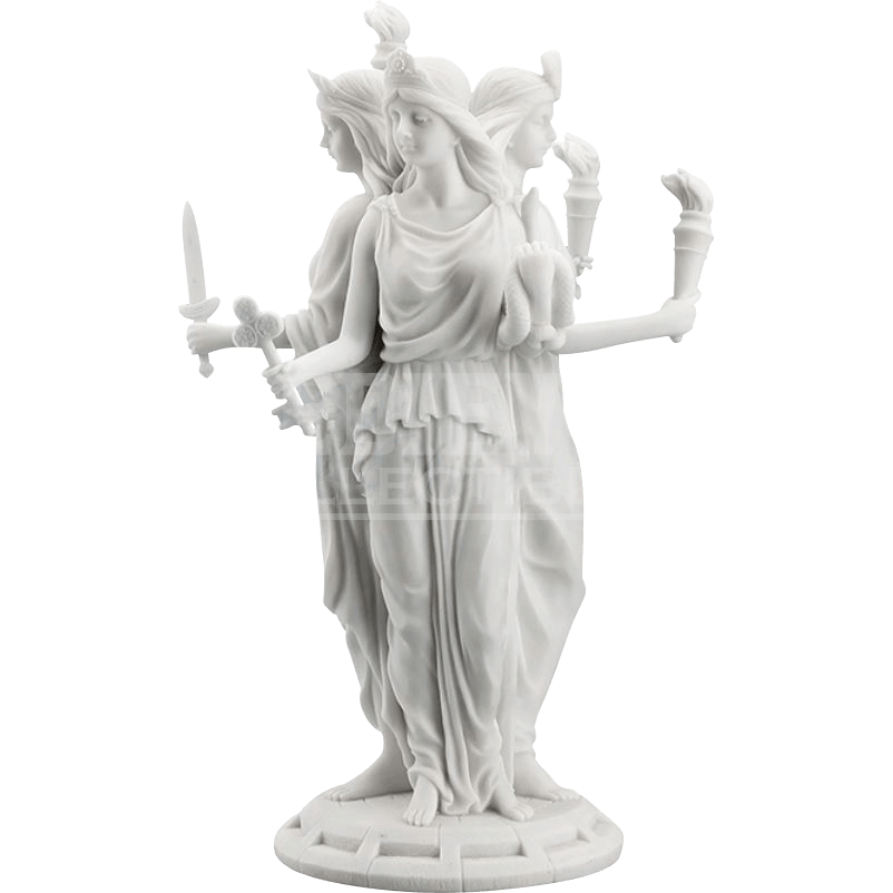 Greek statue png. Goddess hecate wu from