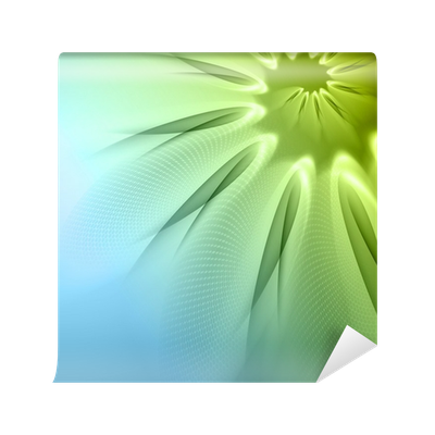 Green abstract background png. Wall mural pixers we