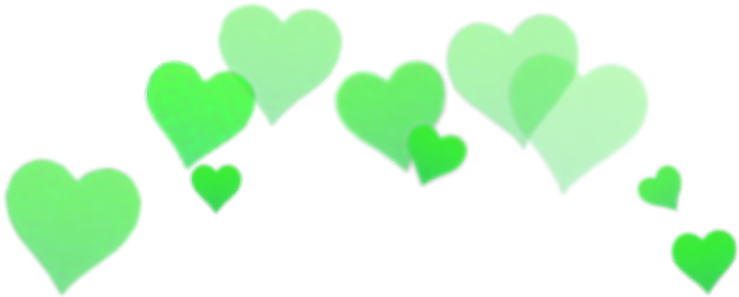 Green aesthetic png. Sticker crown hearts tumblr