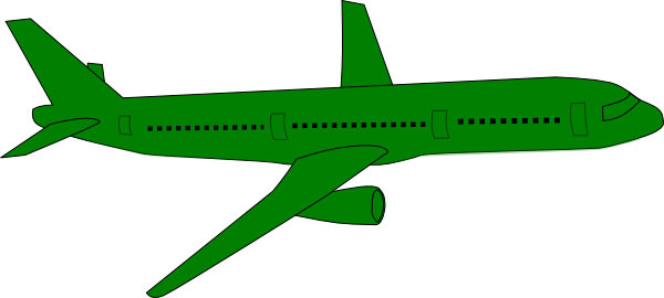 Green airplane. Clip art at clker
