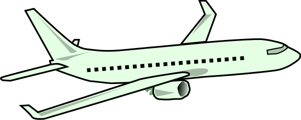 Green plane. Free large cliparts download