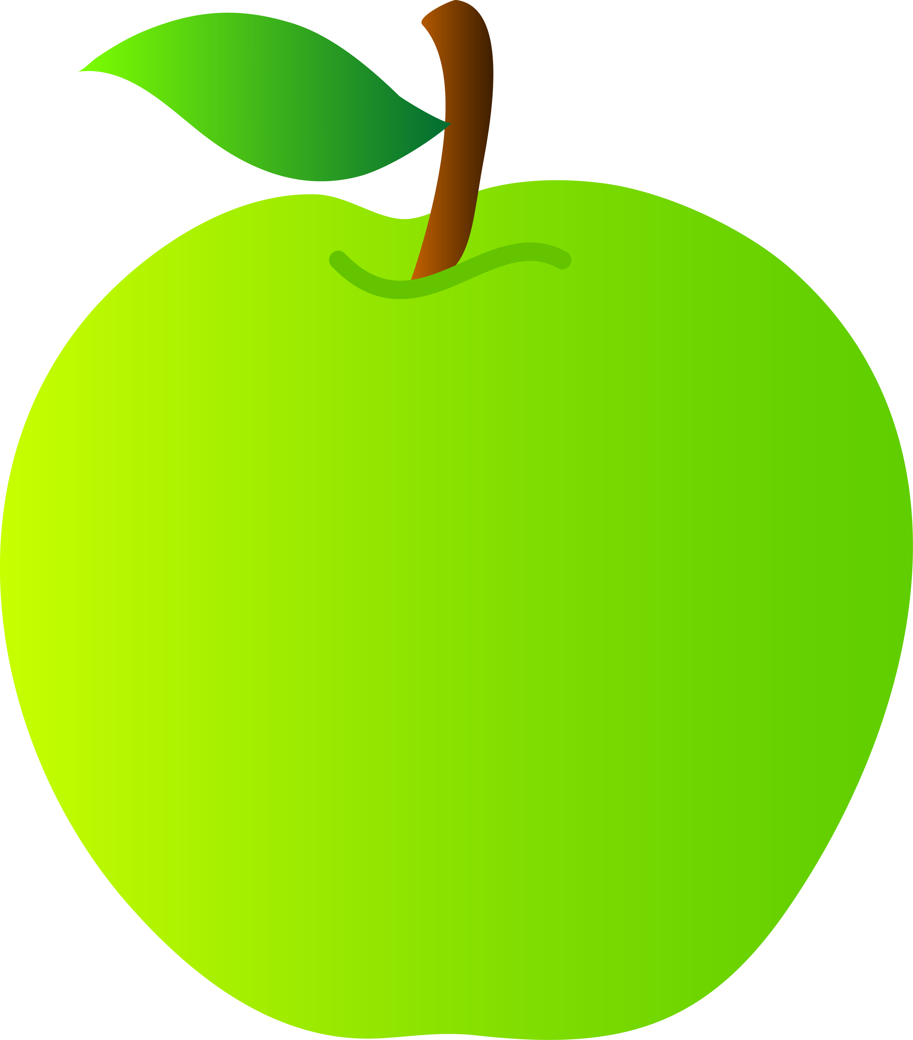 Green apple clipart png.