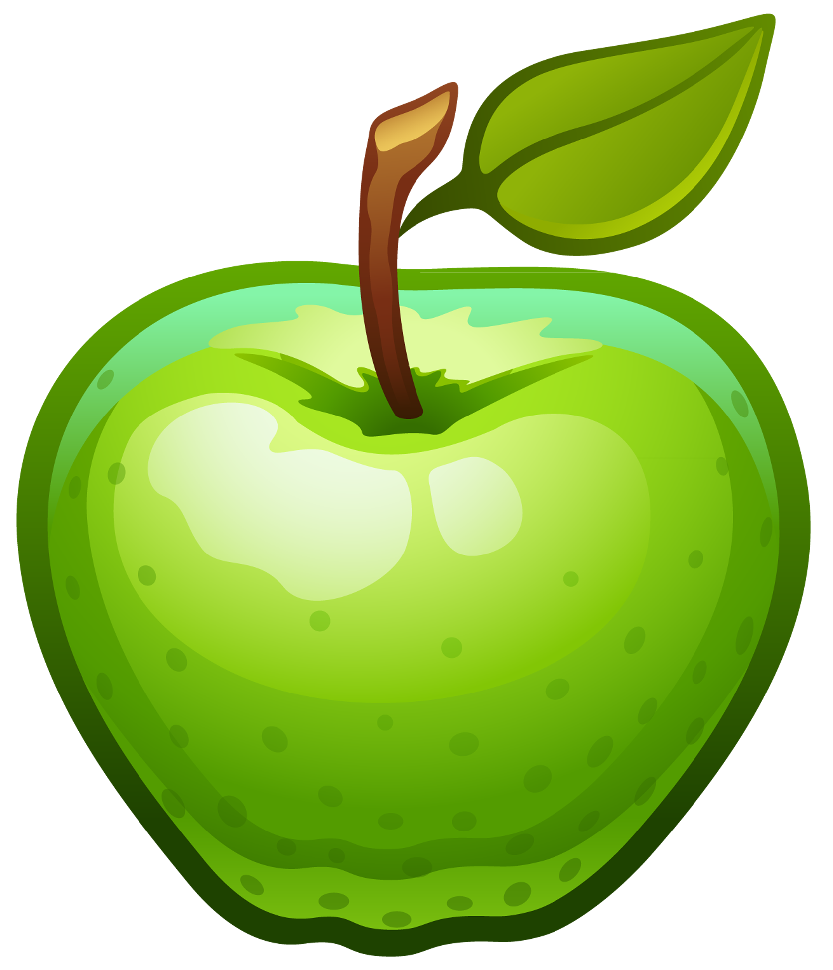Green clipart png. Large painted apple gallery