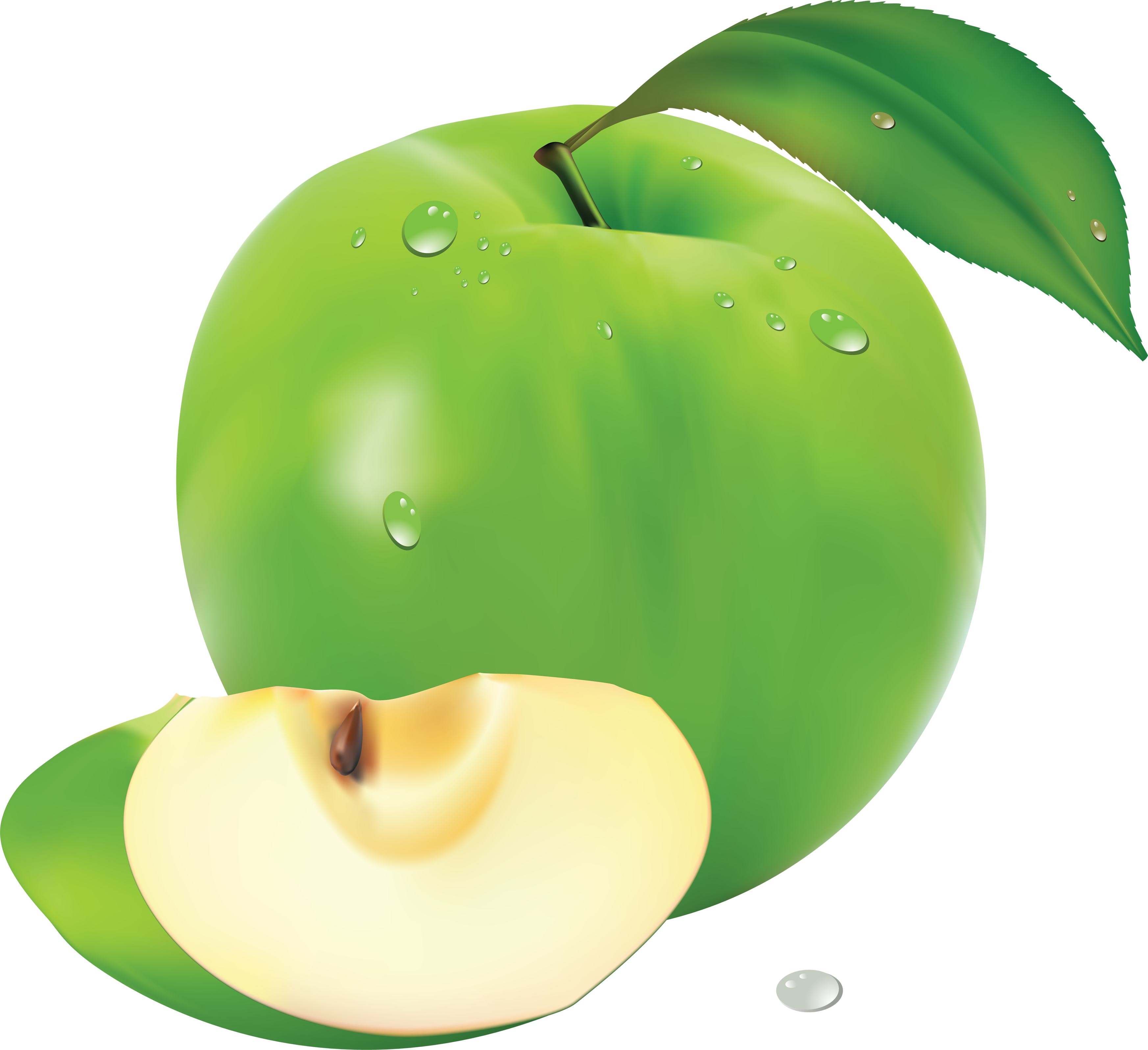 Green apple vector png. Images free download