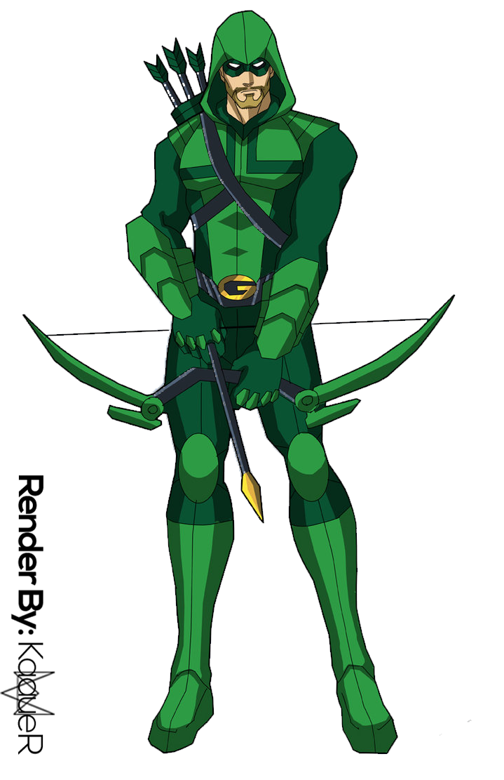 Green arrow comic png. Render by kaauer on
