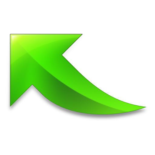 Green arrow .png. Export of icon free