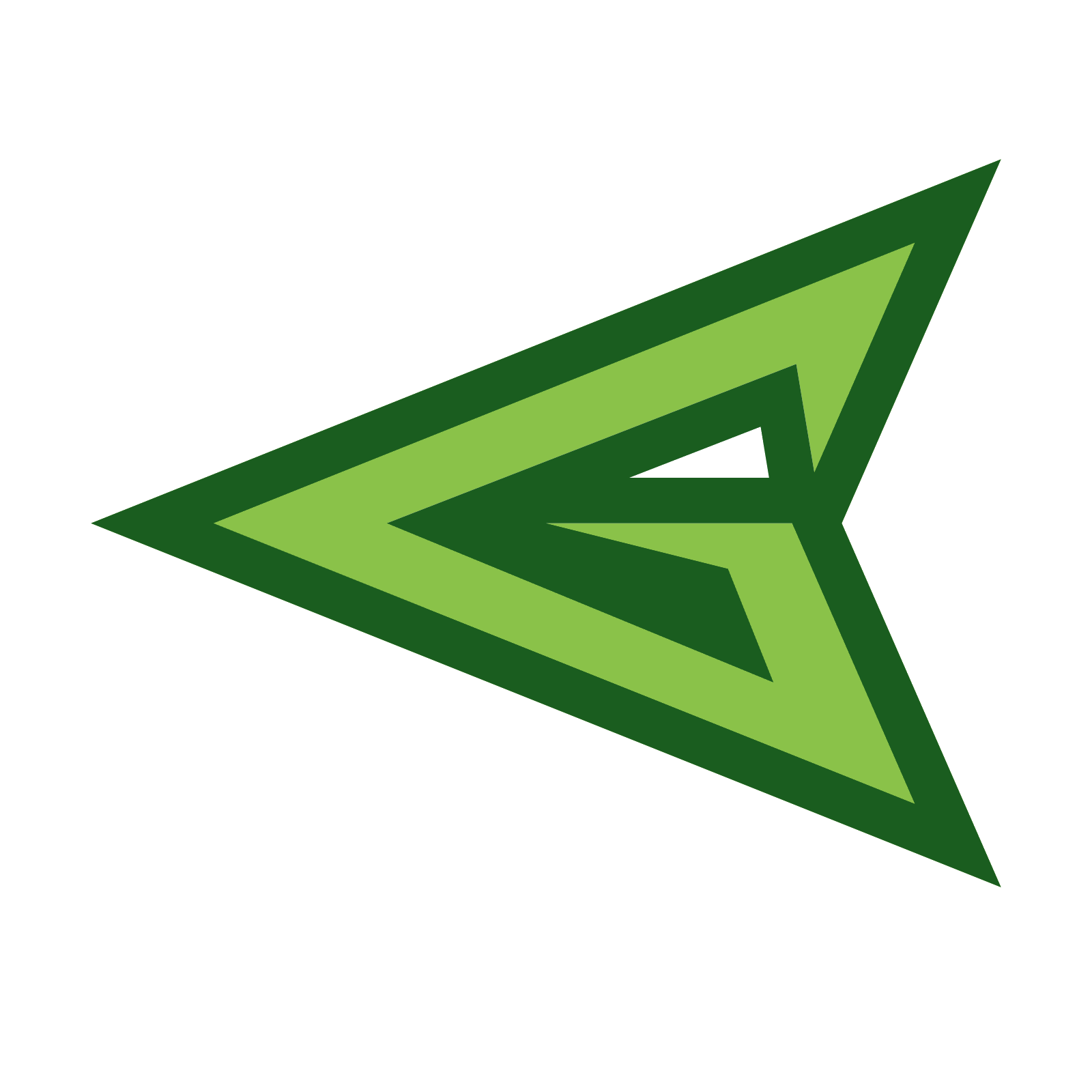 The arrow logo png