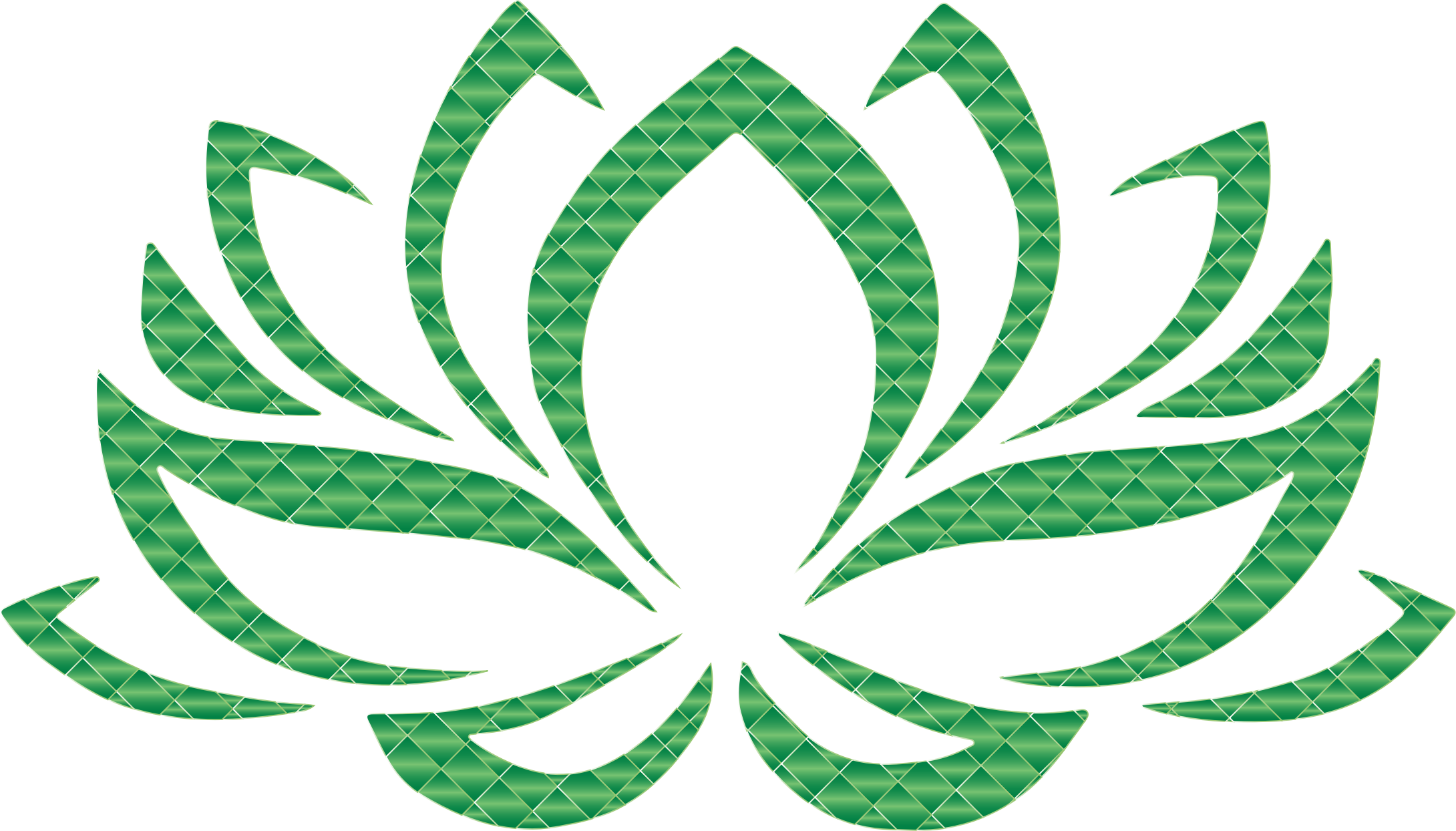Emerald vector. Lotus flower no background
