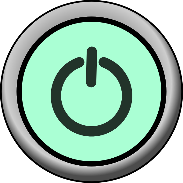 Power button transparent png. On green background clip