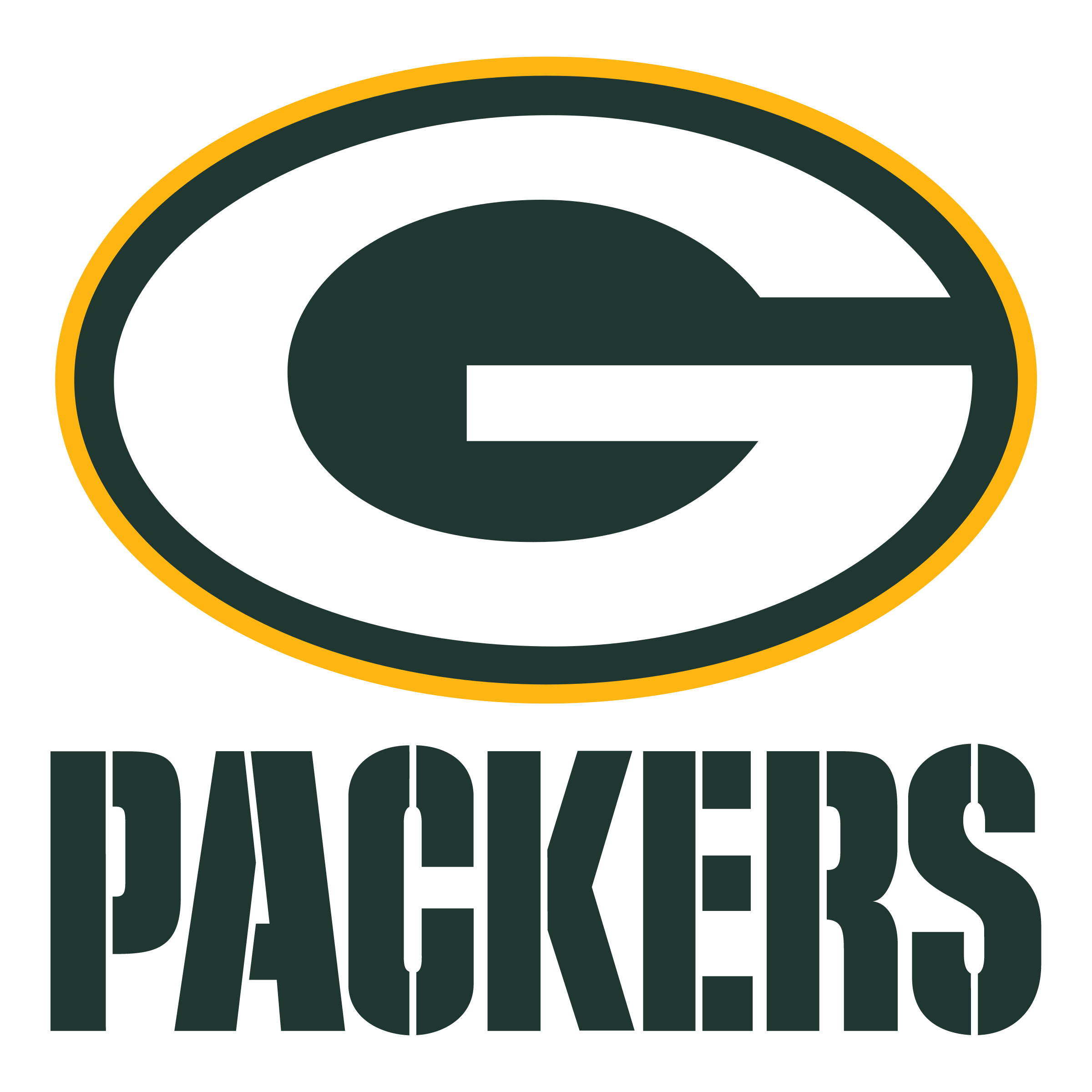 Green bay packers logo png. Transparent svg vector freebie