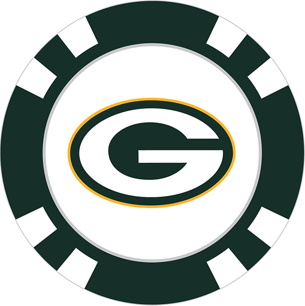 Green bay png. Packers poker chip ball