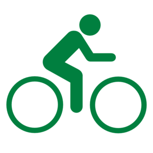 Green bicycle. Clip art at clker