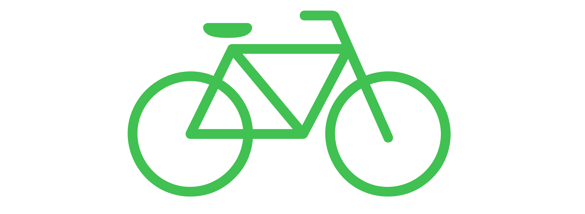 Green bicycle. Clipart bike transparent