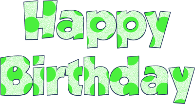 Green birthday png. Image happy dlpng download