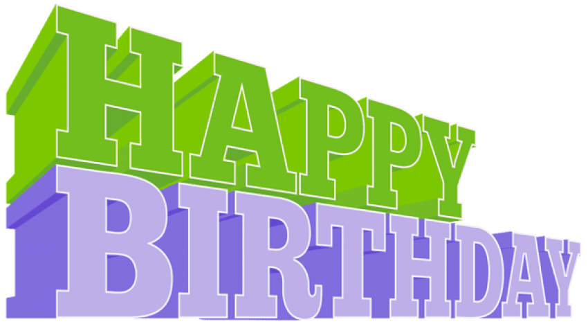 Green birthday png. Download happy images background