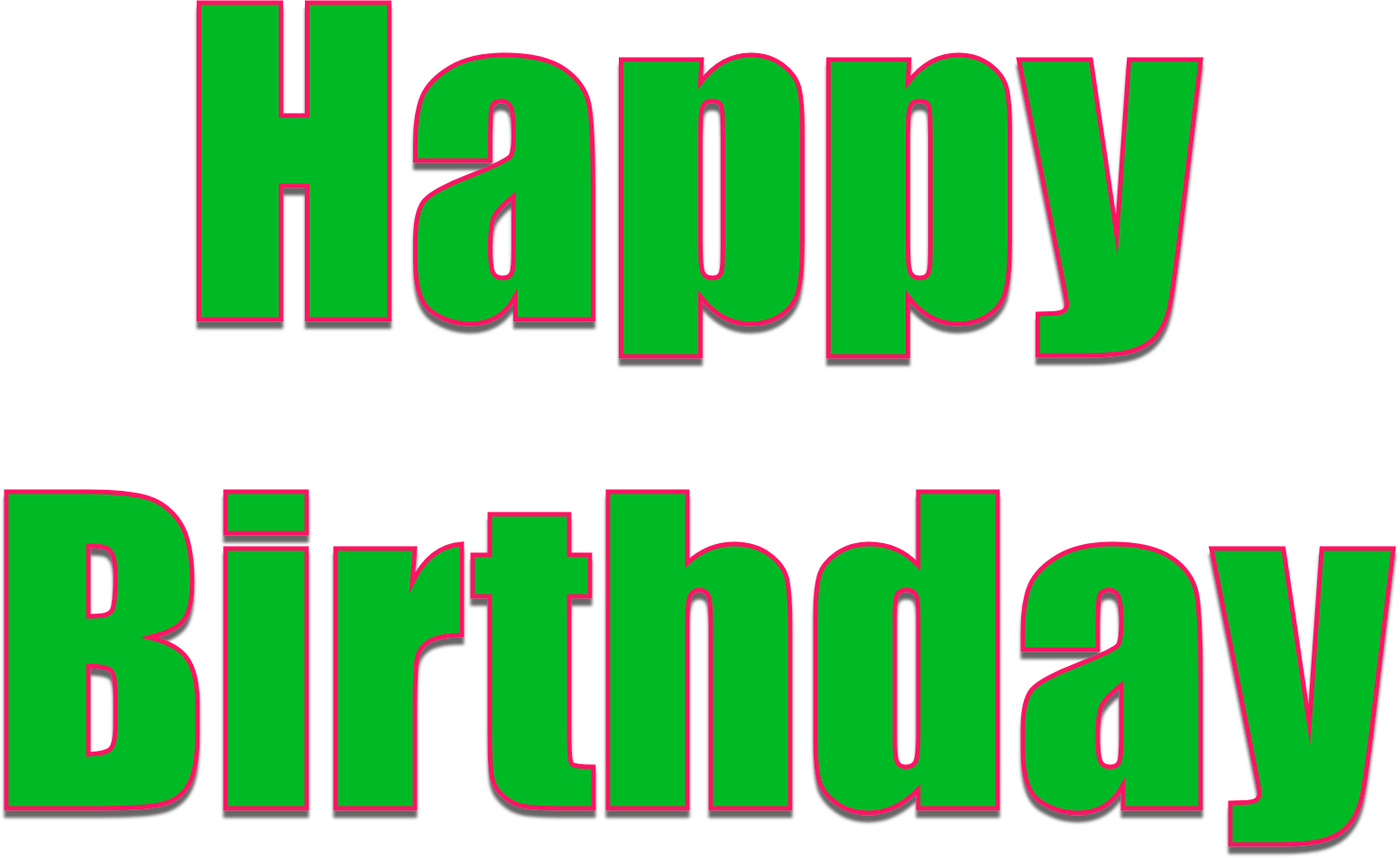 Green birthday png. Happy images free download