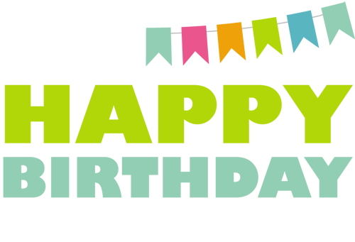 Green birthday png. The happy project calgary