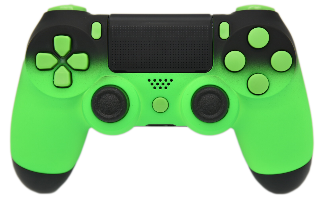Fade custom ps controller. Green black png vector freeuse library