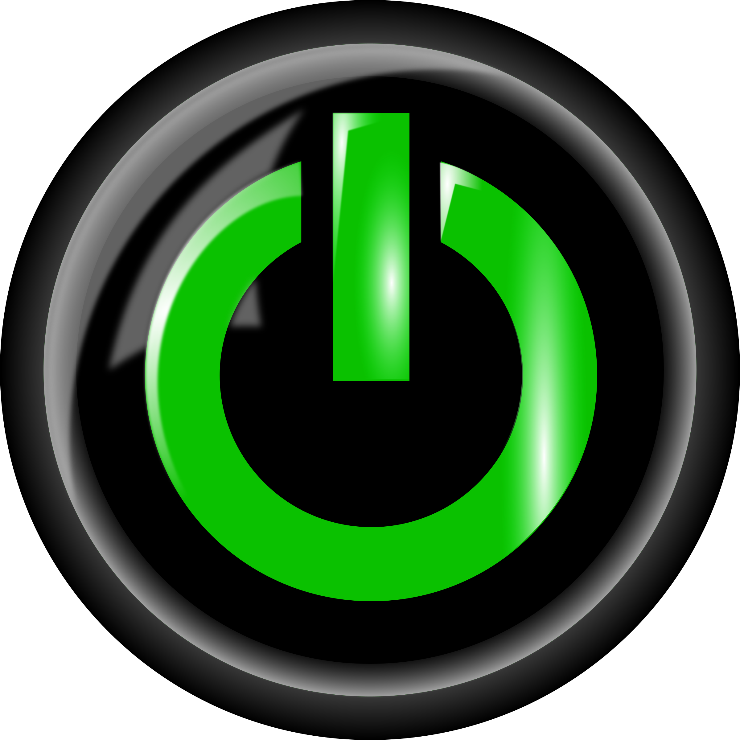 Clipart power button big. Green black png clip library stock