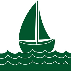 Green boat. Using our free clipart