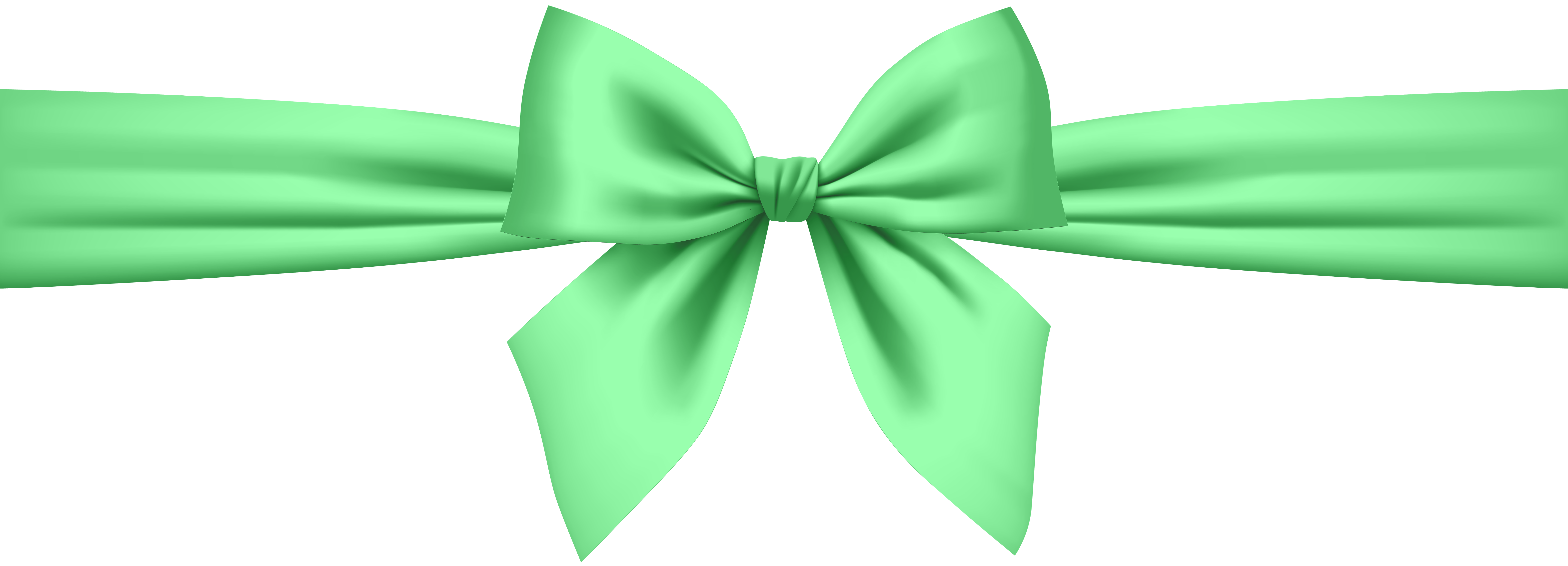 Green bow png. Transparent clip art gallery