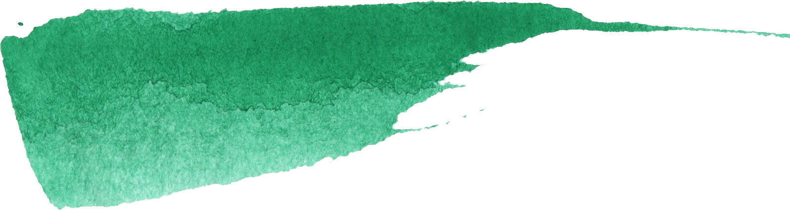 Green brush png. Watercolor stroke banner