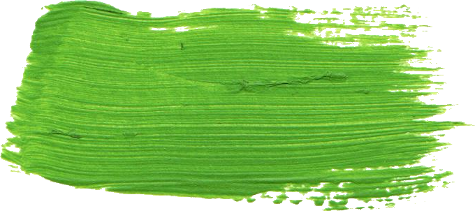 Green brush png. Paint stroke transparent