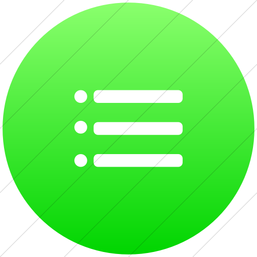 Green bullet png. Iconsetc flat circle white