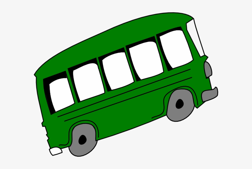 Green bus. Graphic freeuse stock clip