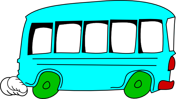Green bus. Image of a clipart