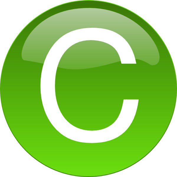 Green c png. Clip art at clker