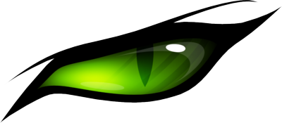 Green cat eyes png. Pair of scary clipart