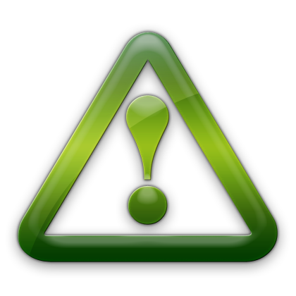 Green caution. Free warning icons download