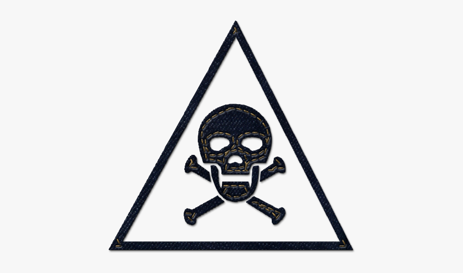 Green caution. Warning sign clipart poison