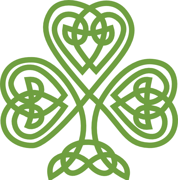 Green celtic cross png. Shamrock clipart transparentpng