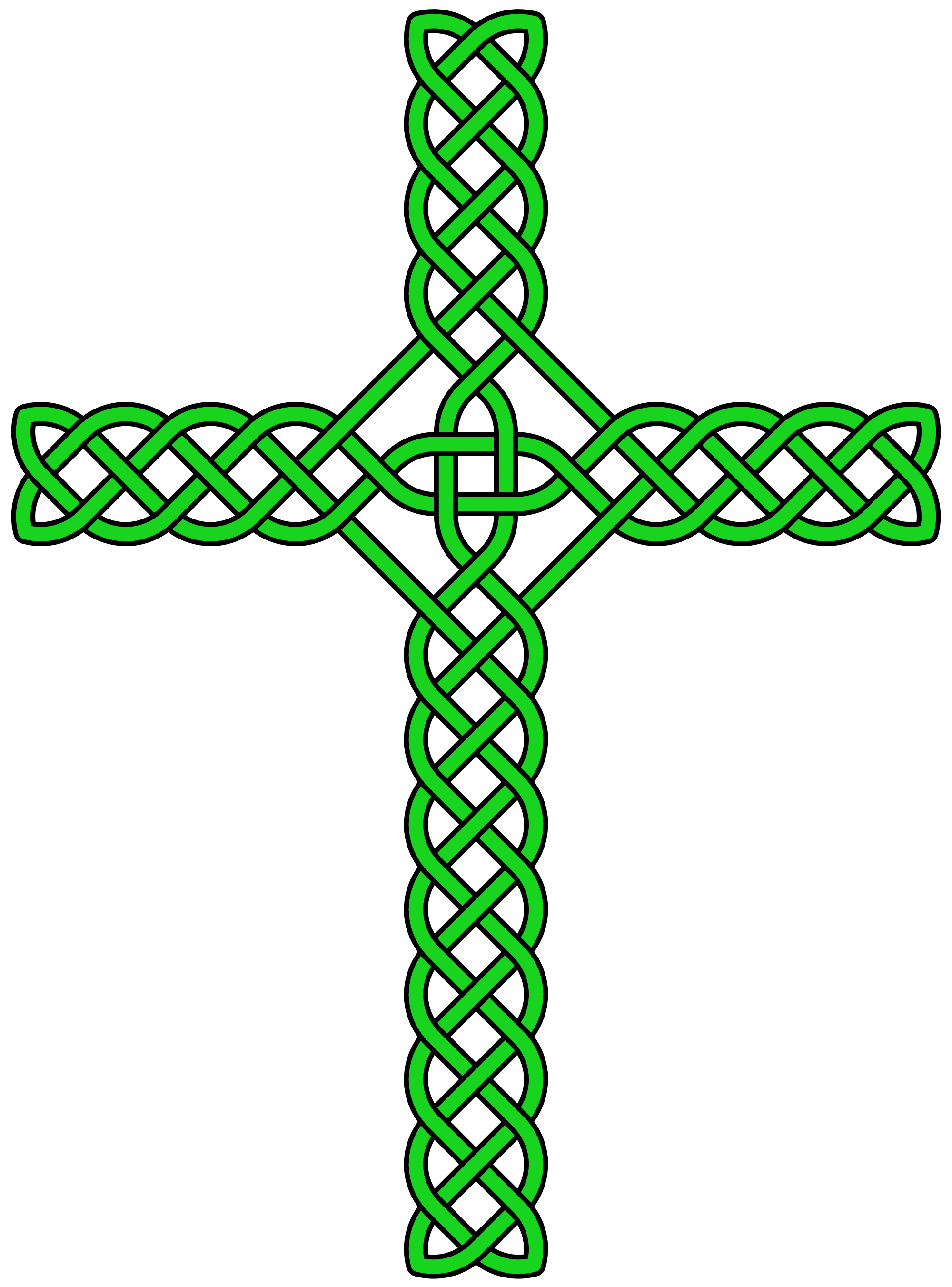Green celtic cross png. File knot no circle