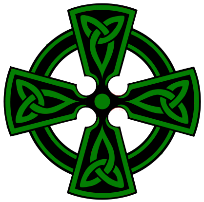 Green celtic cross png. Graphics and comments celticcrosscopy