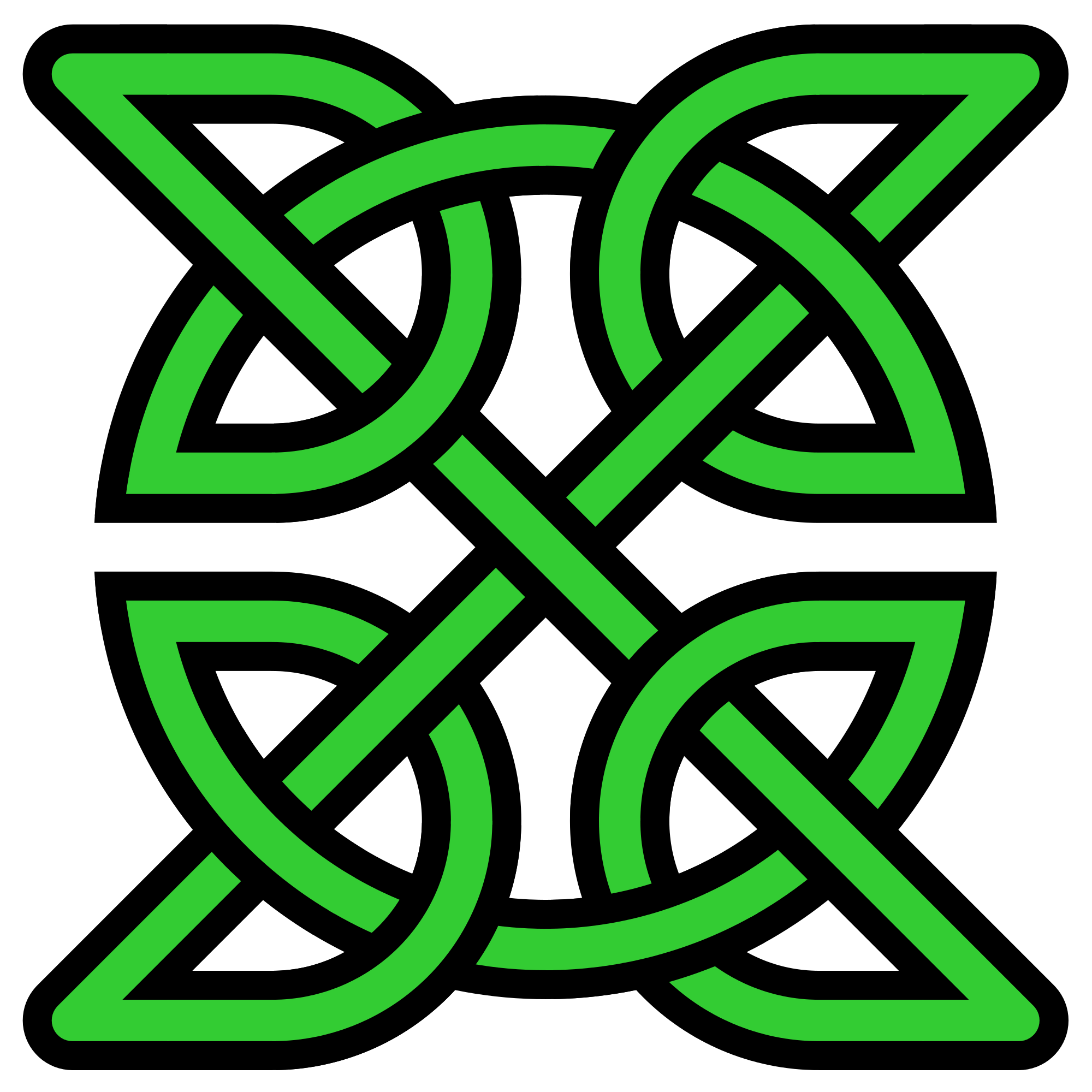 Green celtic cross png. File knot insquare transparentbg