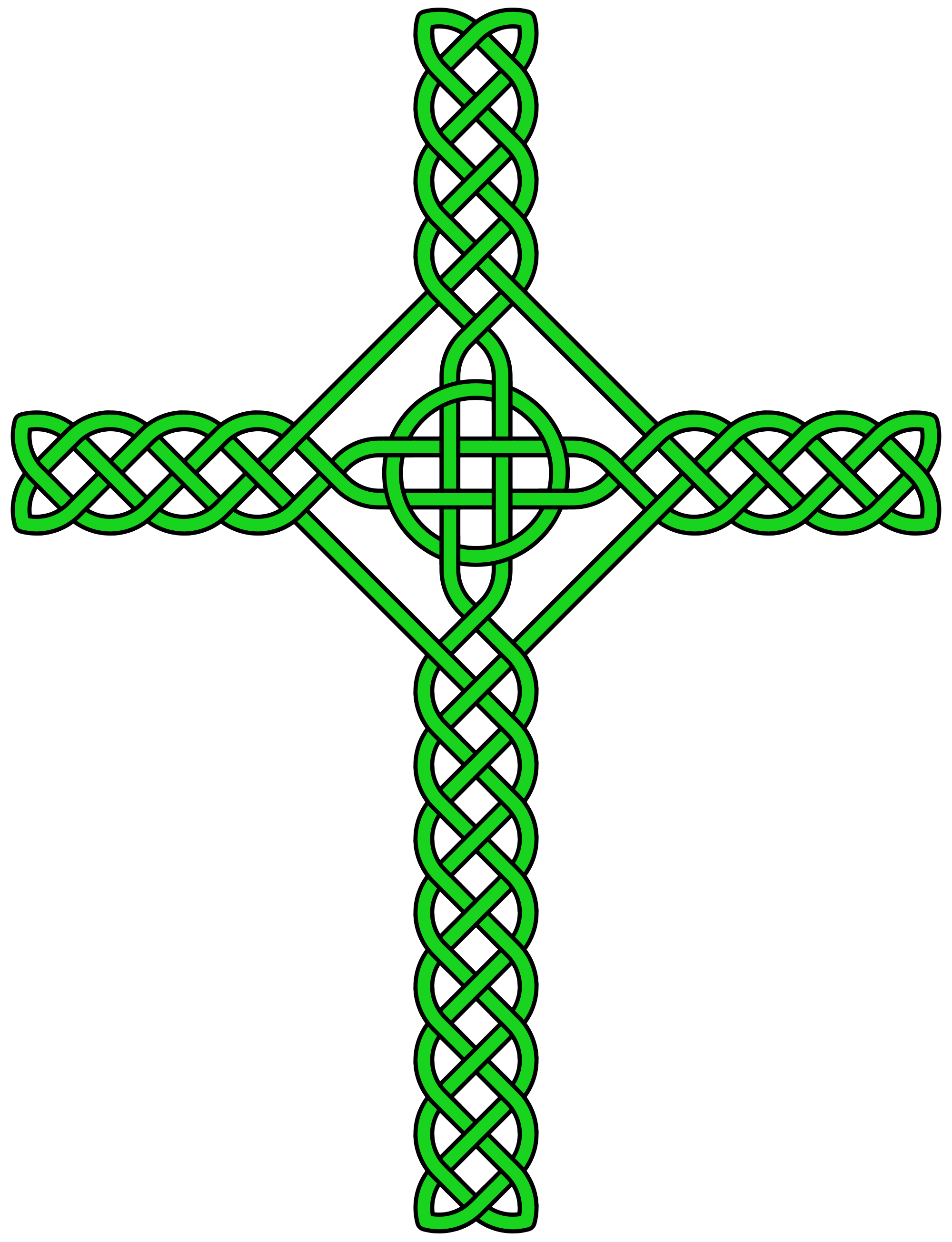 Green celtic cross png. File knot svg wikimedia