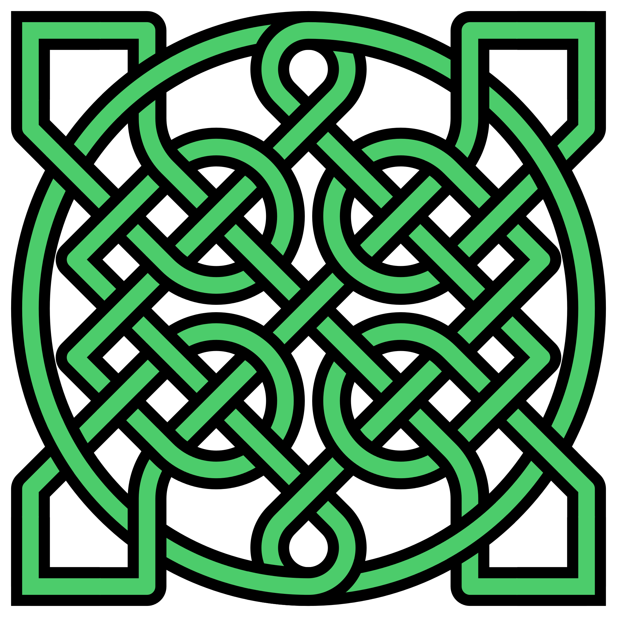 Green celtic cross png. File knot insquare crossings