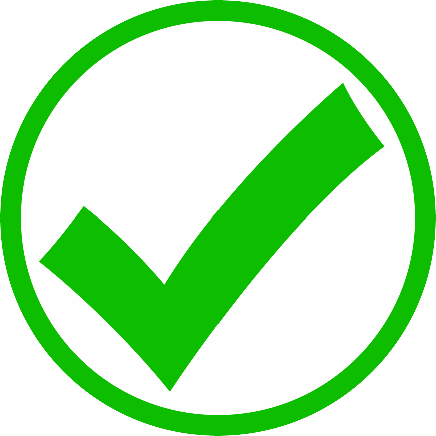 Green check mark icon png. Checkmark transparent pictures free