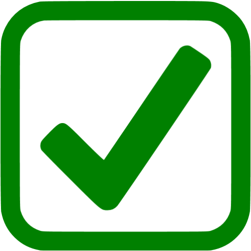 Green checkbox png. Checked icon free check